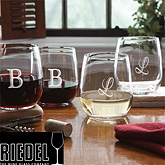 engraved wine glass gift